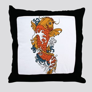 Fancy Koi Throw Pillow