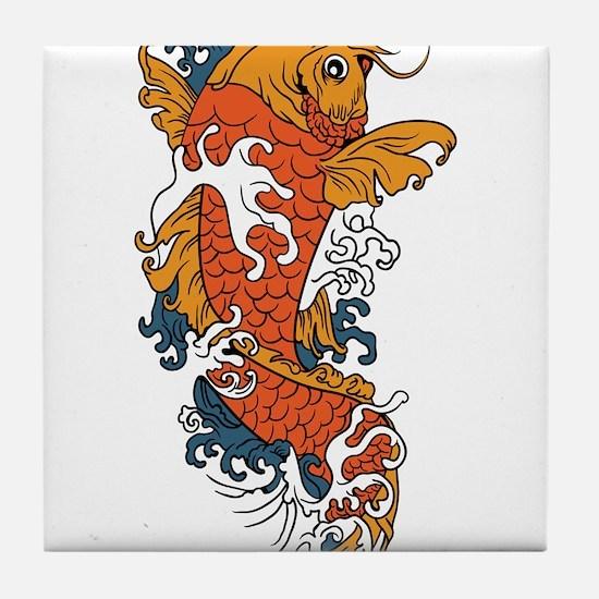 Fancy Koi Tile Coaster