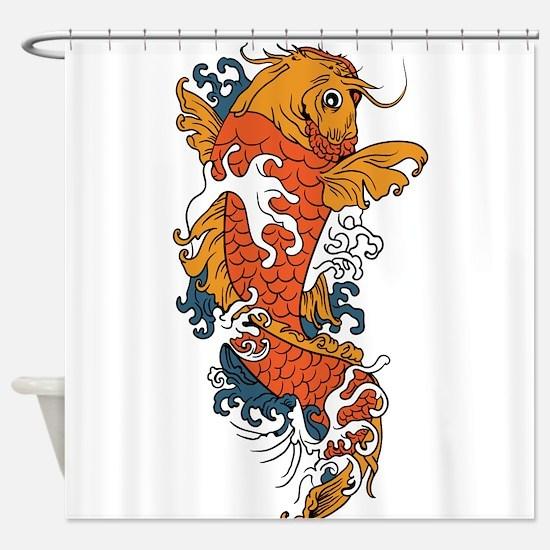 Fancy Koi Shower Curtain