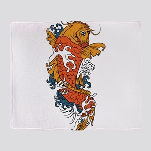 Fancy Koi Throw Blanket