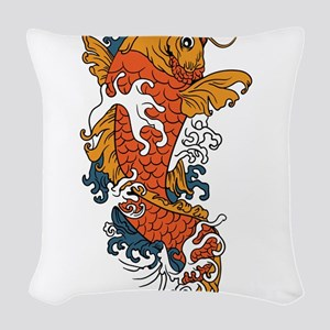 Fancy Koi Woven Throw Pillow