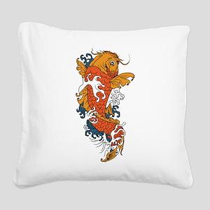Fancy Koi Square Canvas Pillow
