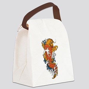 Fancy Koi Canvas Lunch Bag