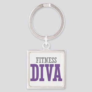 Fitness DIVA Square Keychain