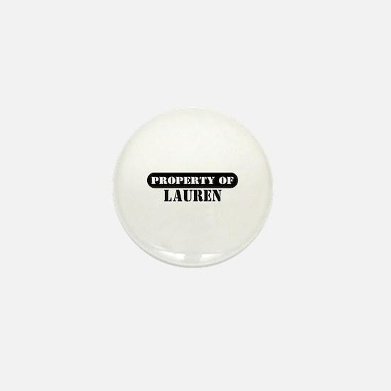 Property of Lauren Mini Button