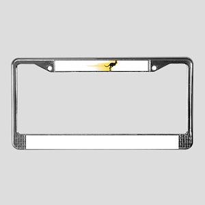 Running Kangaroo License Plate Frame