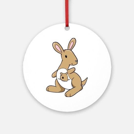 Kangaroo Family Ornament (Round)