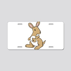 Kangaroo Family Aluminum License Plate