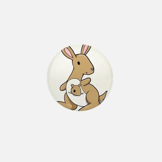 Kangaroo Family Mini Button