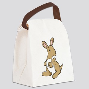 Kangaroo Family Canvas Lunch Bag