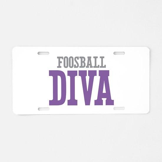 Foosball DIVA Aluminum License Plate