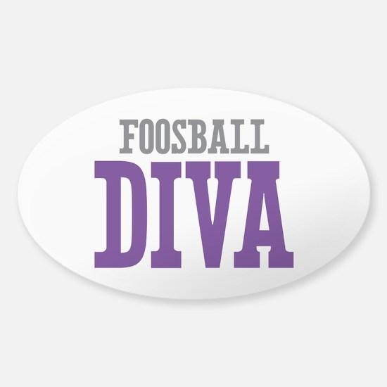 Foosball DIVA Sticker (Oval)