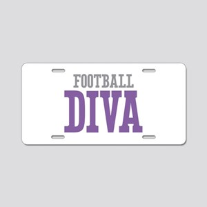 Football DIVA Aluminum License Plate