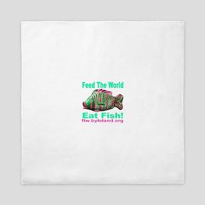 Feed the World Eat Fish! Queen Duvet