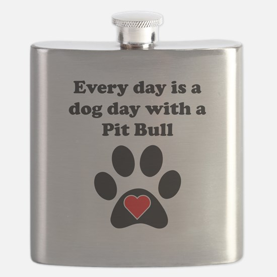 Pit Bull Dog Day Flask