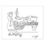 Produce Cartoon 4342 Small Poster