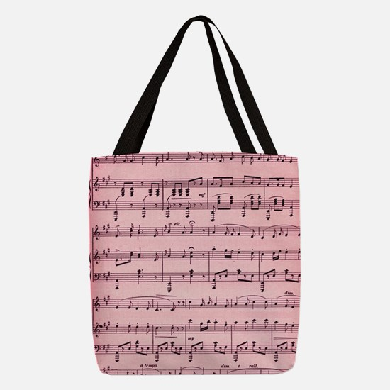 Cute Music Polyester Tote Bag