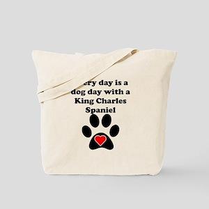 King Charles Spaniel Dog Day Tote Bag