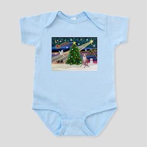 XmasMagic/ Whippet (#7) Infant Bodysuit