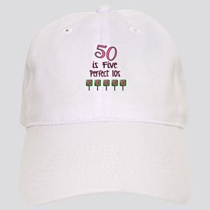 50 is Five Perfect TENS Baseball Cap