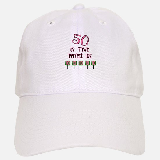 50 is Five Perfect TENS Baseball Baseball Baseball Cap