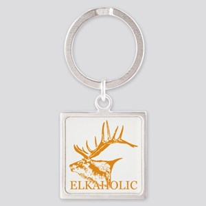 Elkaholic o Square Keychain
