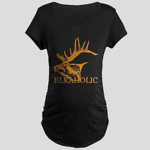Elkaholic o Maternity Dark T-Shirt