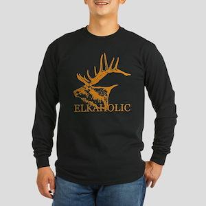 Elkaholic o Long Sleeve Dark T-Shirt