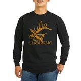 Funny elk hunting Long Sleeve Dark T-Shirts