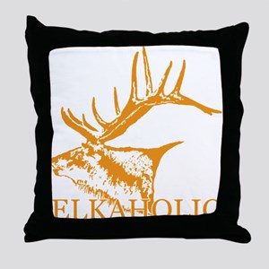 Elkaholic o Throw Pillow