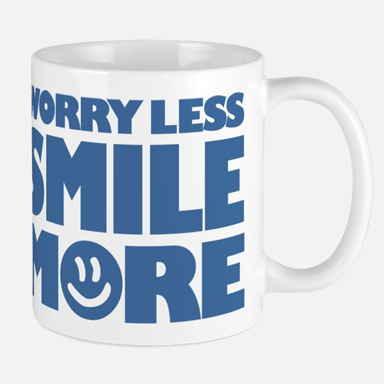 Worry Less Smile More - Smiley Face Mug
