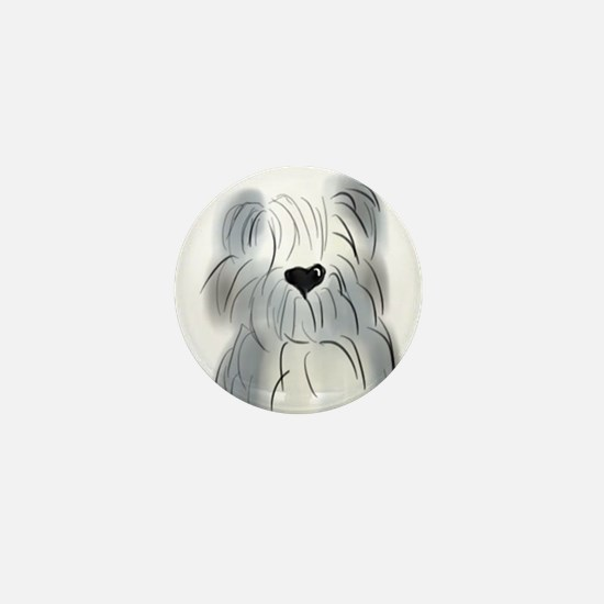 Old English Sheepdog Mini Button