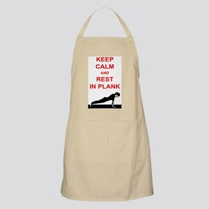 Keep Calm and Rest In Plank Apron