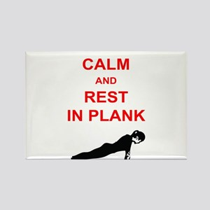 Keep Calm and Rest In Plank Rectangle Magnet