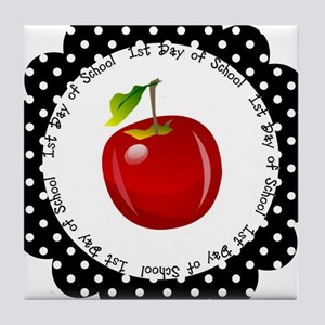 First Day of School Tile Coaster