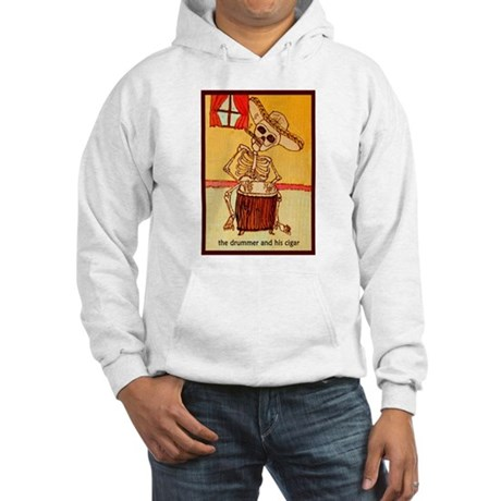 The Drummer and his cigar. Hooded Sweatshirt