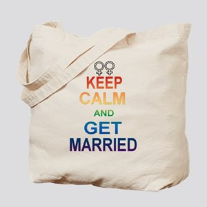 Keep Calm And Get Married Female Symbol. Tote Bag