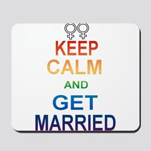 Keep Calm And Get Married Female Symbol. Mousepad