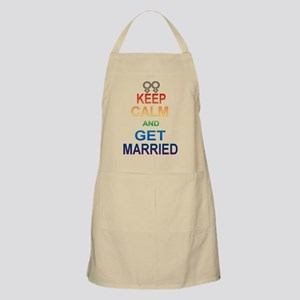 Keep Calm And Get Married Female Symbol. Apron