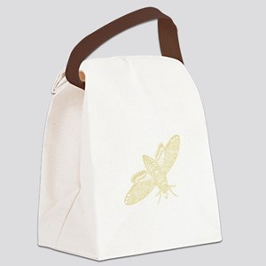 AntiqueTypographyBee Canvas Lunch Bag