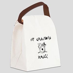 MyGrandmaRocksDrums Canvas Lunch Bag