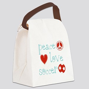 PeaceLoveSoccer Canvas Lunch Bag
