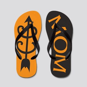 ORANGE Black Cross Country MOM Flip Flops