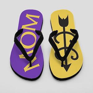 Yellow Gold Purple Cross Country MOM Flip Flops