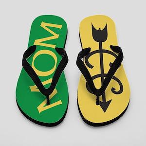 Yellow Gold Green Cross Country MOM Flip Flops