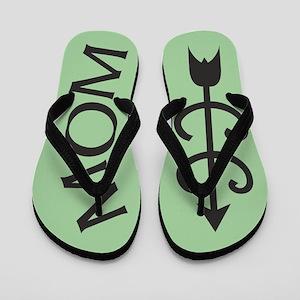 Light GREEN Cross Country MOM Flip Flops