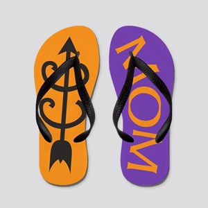 Orange Purple Cross Country MOM Flip Flops