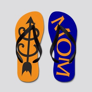 Orange Blue Cross Country MOM Flops