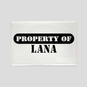 Property of Lana Rectangle Magnet
