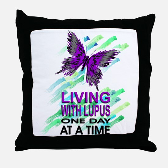 Lupus Awareness Throw Pillow